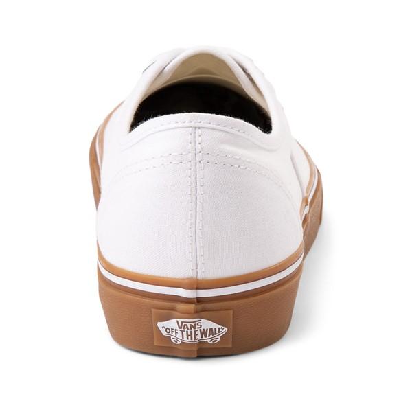alternate image alternate view Vans Authentic Skate Shoe - White / GumALT4