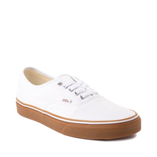 alternate image alternate view Vans Authentic Skate Shoe - White / GumALT5