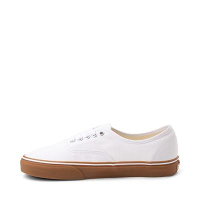 Alternate view of Vans Authentic Skate Shoe - White / Gum