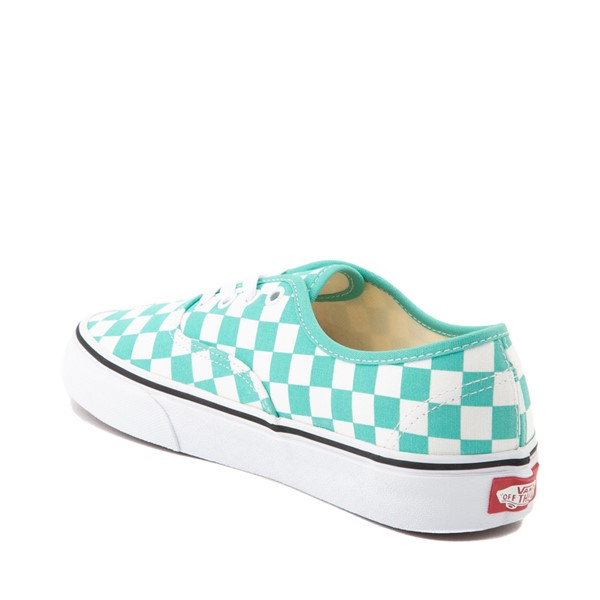 alternate image alternate view Vans Authentic Checkerboard Skate Shoe - WaterfallALT1