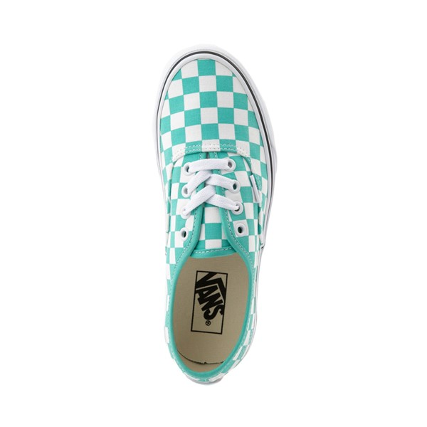 alternate image alternate view Vans Authentic Checkerboard Skate Shoe - WaterfallALT2