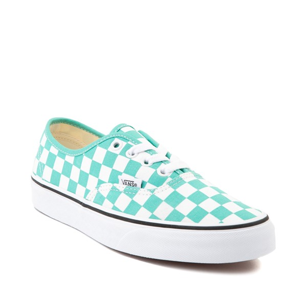 alternate image alternate view Vans Authentic Checkerboard Skate Shoe - WaterfallALT5