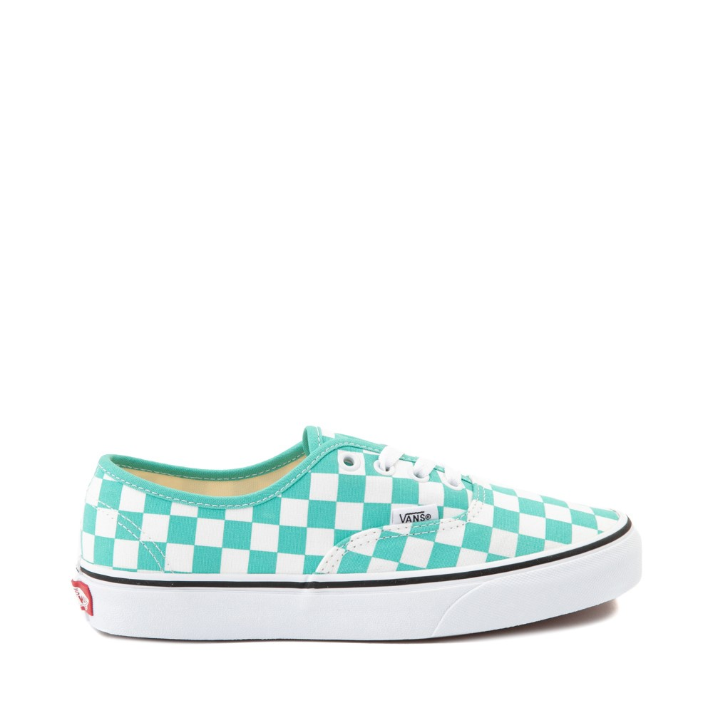 Vans Authentic Checkerboard Skate Shoe - Waterfall