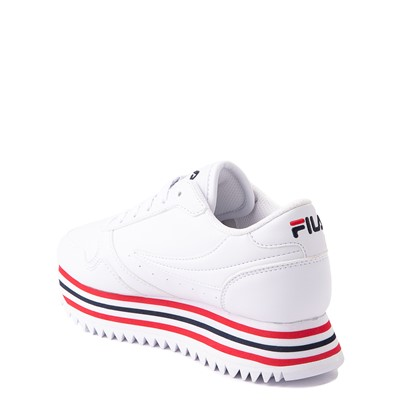 Alternate view of Fila Orbit Stripe Athletic Shoe - Big Kid - White / Navy / Red