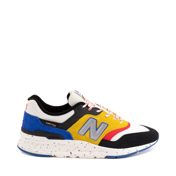 Main view of Mens New Balance 997H Athletic Shoe - White / Black / Yellow