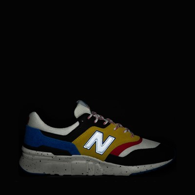 Alternate view of Mens New Balance 997H Athletic Shoe - White / Black / Yellow