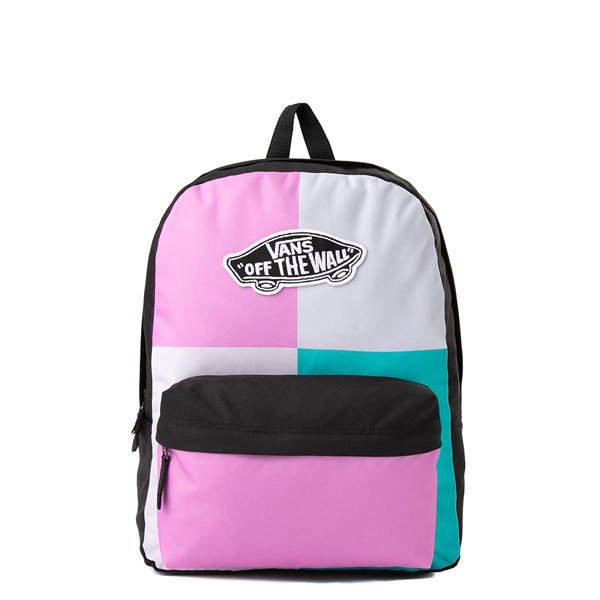 Main view of Vans Realm Patchy Backpack - Orchid / Pastel Multicolor