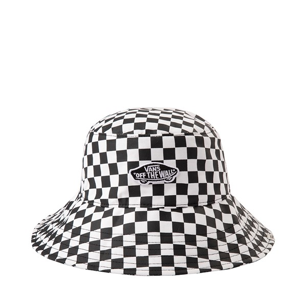 Main view of Vans Level Up Checkerboard Bucket Hat - Black / White