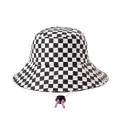 Alternate view of Vans Level Up Checkerboard Bucket Hat - Black / White