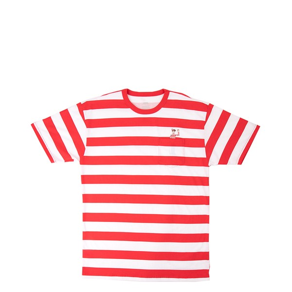 Main view of Mens Vans x Where's Waldo Stripe Tee - Racing Red
