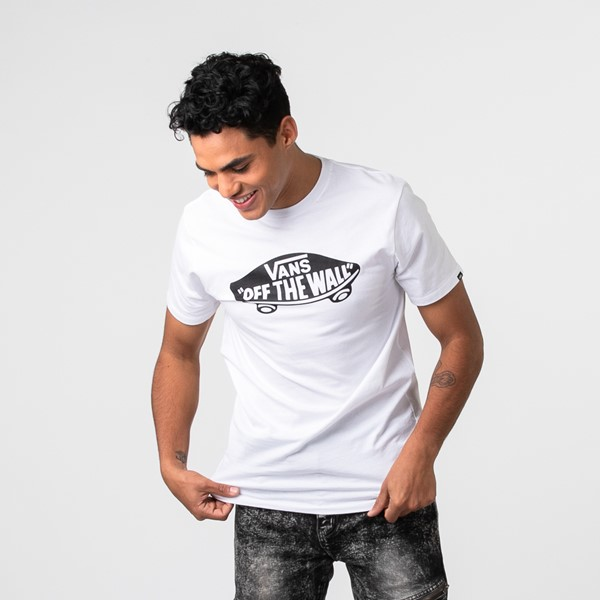 Main view of Mens Vans Off The Wall Crew Tee - White