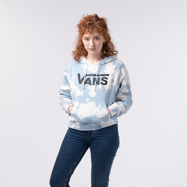 Main view of Womens Vans Oxide Cropped Hoodie - Ballad Blue