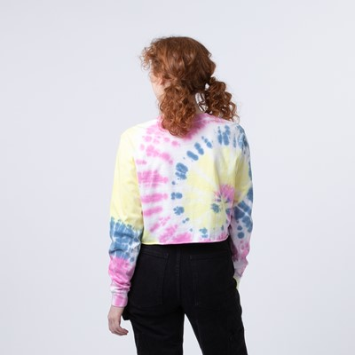 Alternate view of Womens Vans Spiraling Masc Off Cropped Long Sleeve Tee - Orchid Tie Dye