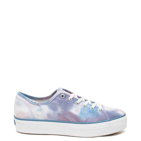 Main view of Womens Keds Triple Kick Platform Casual Shoe - Navy Tie Dye
