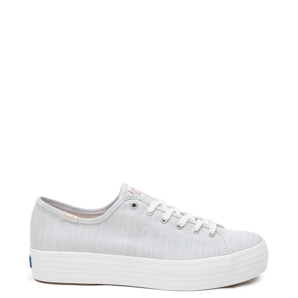 Womens Keds Triple Kick Platform Casual Shoe - Light Grey