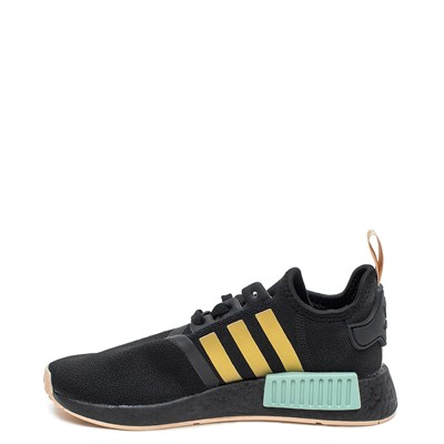 Alternate view of Womens adidas NMD R1 Athletic Shoe - Black / Gold / Halo Amber