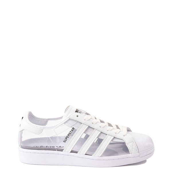 Main view of Womens adidas Superstar Athletic Shoe - Clear / White