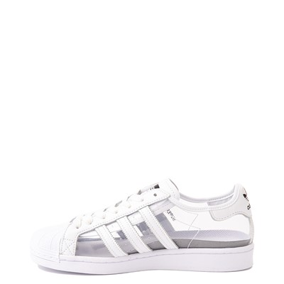 Alternate view of Womens adidas Superstar Athletic Shoe - Clear / White