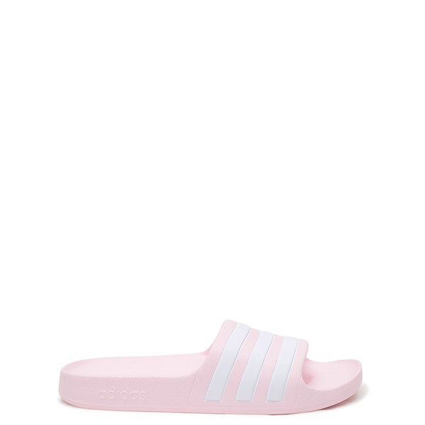 Main view of adidas Adilette Aqua Slide Sandal - Little Kid / Big Kid - Clear Pink