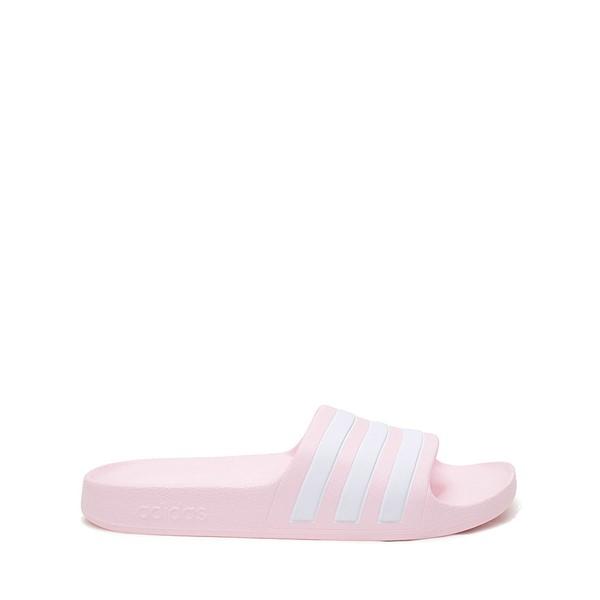 adidas Adilette Aqua Slide Sandal - Little Kid / Big Kid - Clear Pink