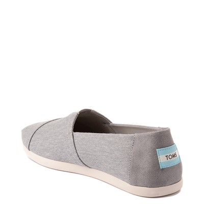 Alternate view of Mens TOMS Classic Slip On Casual Shoe - Grey