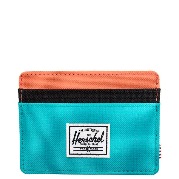Main view of Herschel Supply Co. Charlie Wallet - Blue / Black / Ember