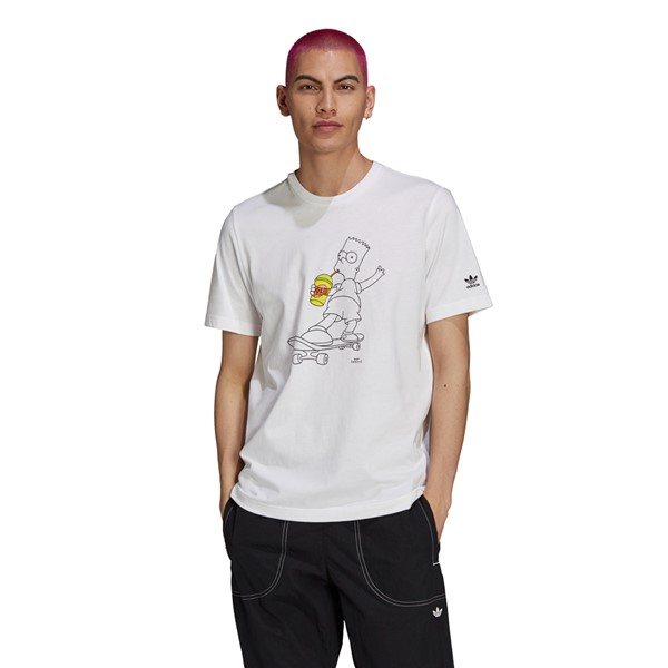 Main view of Mens adidas x The Simpsons Bart Tee - White