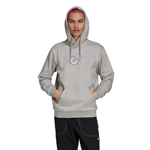 Main view of Mens adidas x The Simpsons D'OH Hoodie - Heather Grey