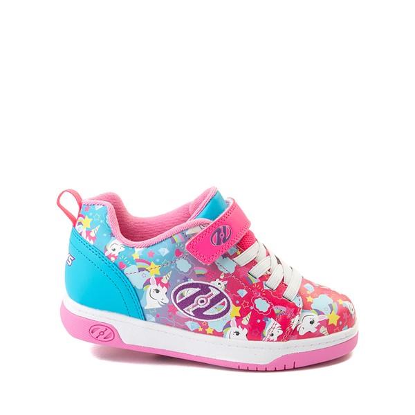 Main view of Heelys Dual Up X2 Skate Shoe - Little Kid / Big Kid - Neon Pink / Cyan / Purple