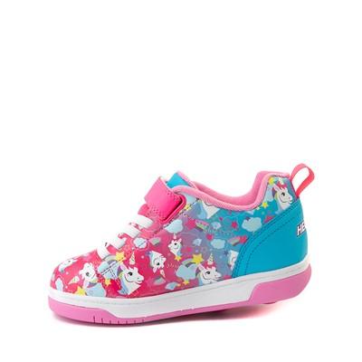 Alternate view of Heelys Dual Up X2 Skate Shoe - Little Kid / Big Kid - Neon Pink / Cyan / Purple