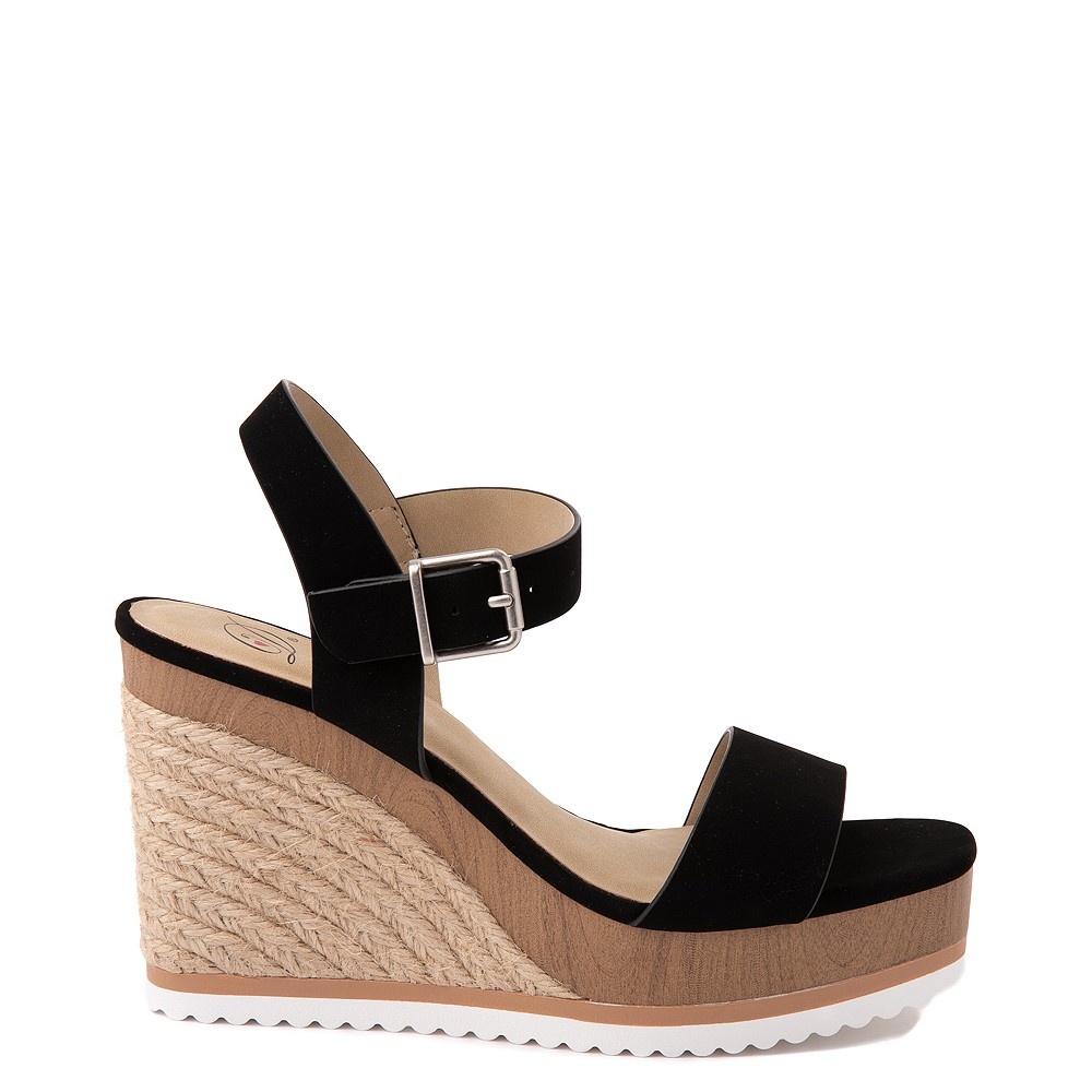 Womens Heart in D Issues-S Wedge - Black