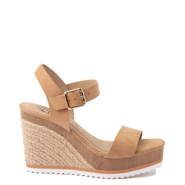 Womens Heart in D Issues-S Wedge - Camel