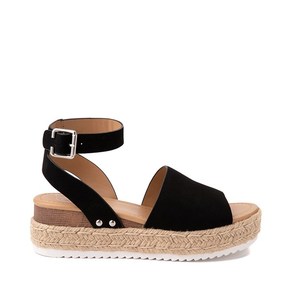 Main view of Womens Heart in D Topic-S Sandal - Black
