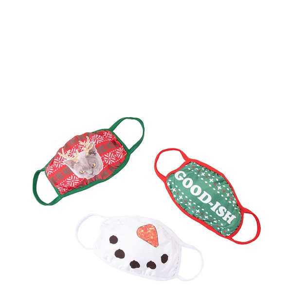 Main view of Holiday Face Cover 3 Pack - Multicolor