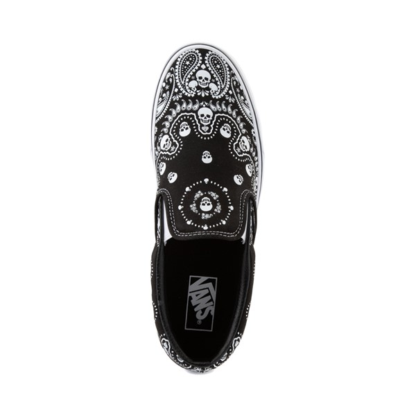 alternate image alternate view Vans Slip On Bandana Skate Shoe - BlackALT2