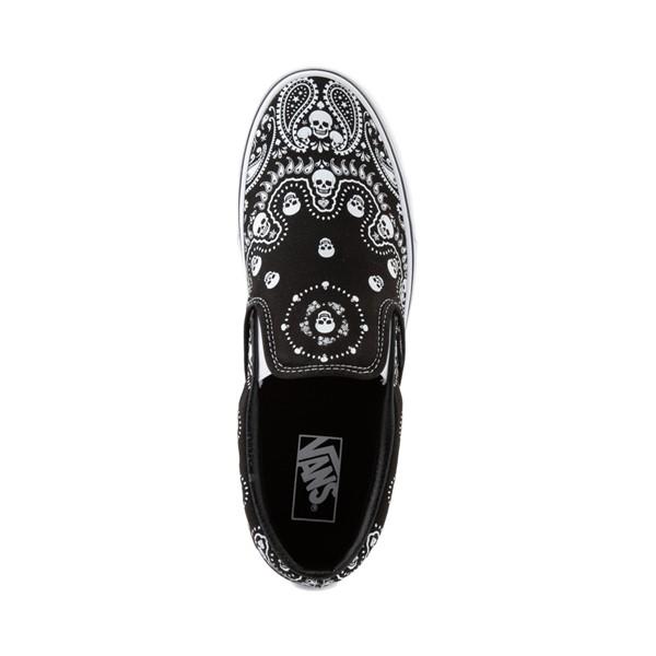 alternate view Vans Slip On Bandana Skate Shoe - BlackALT2