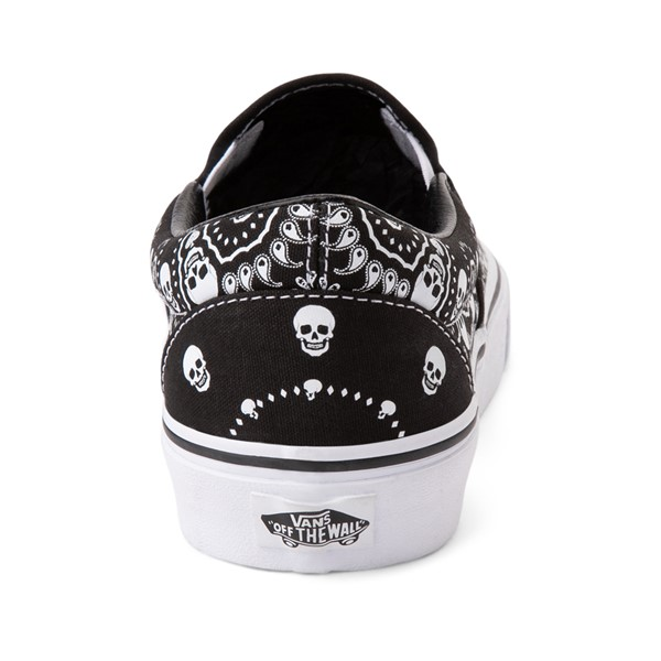 alternate image alternate view Vans Slip On Bandana Skate Shoe - BlackALT4