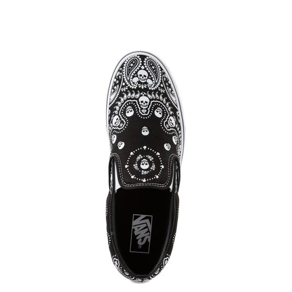 alternate image alternate view Vans Slip On Bandana Skate Shoe - BlackALT4B