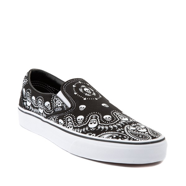 alternate image alternate view Vans Slip On Bandana Skate Shoe - BlackALT5