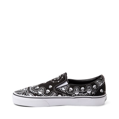 Alternate view of Vans Slip On Bandana Skate Shoe - Black
