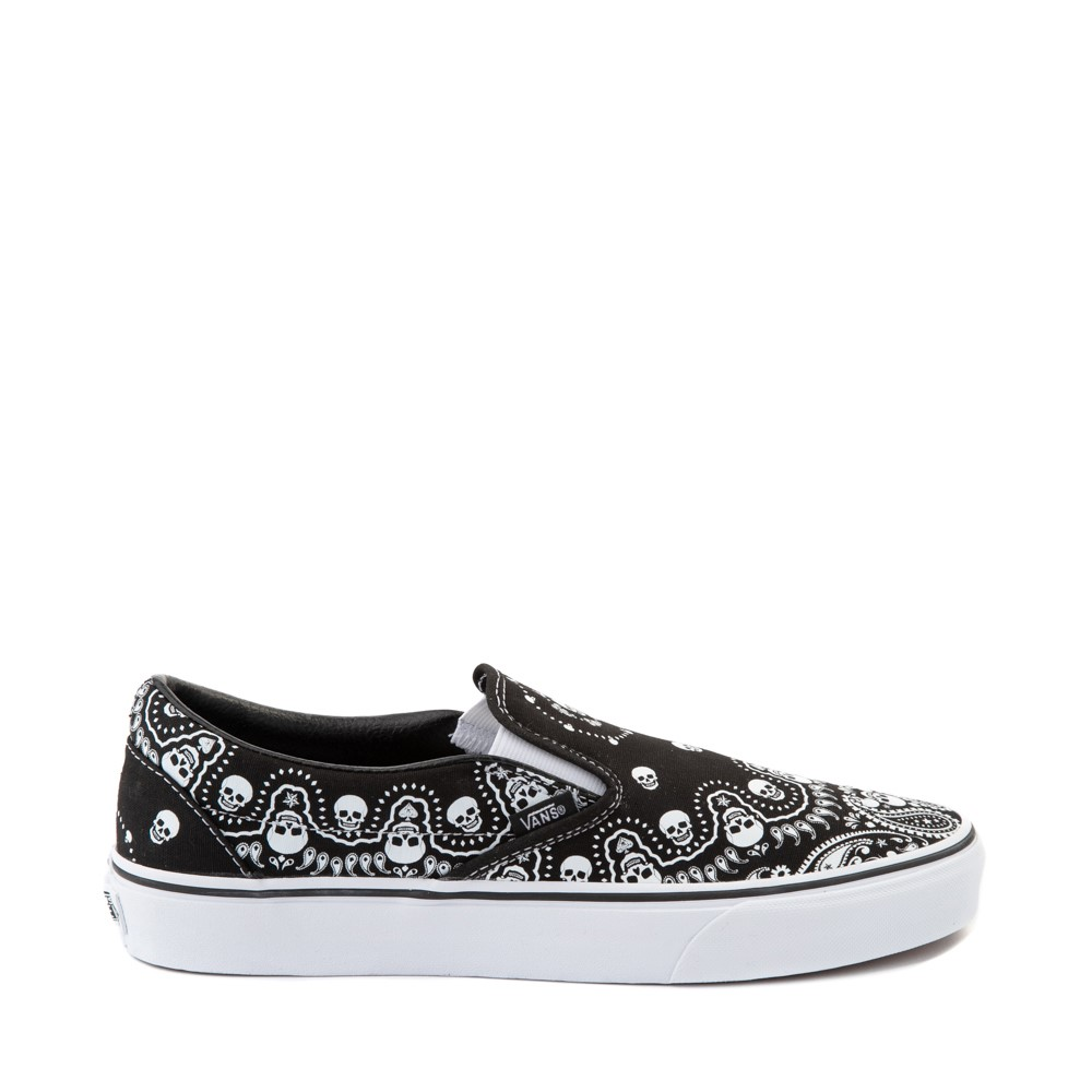Vans Slip On Bandana Skate Shoe - Black