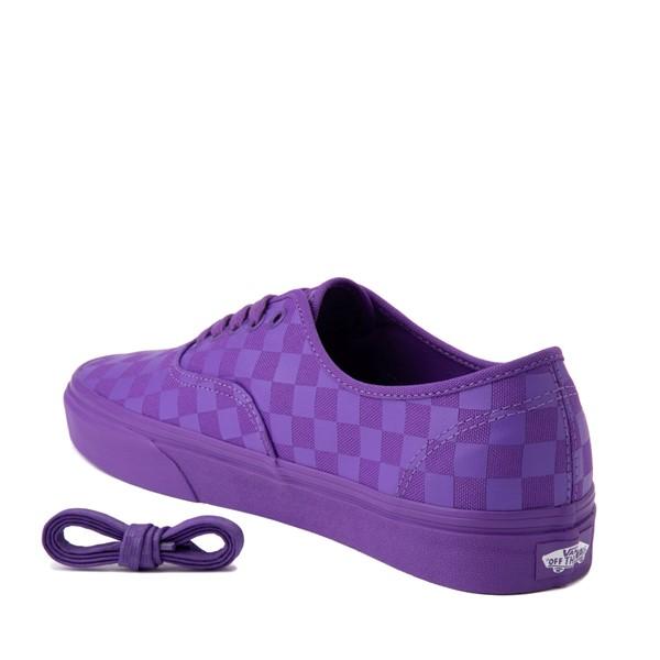 alternate image alternate view Vans Authentic Tonal Checkerboard Skate Shoe - Electric PurpleALT1