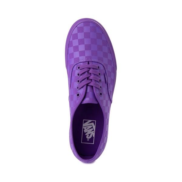 alternate image alternate view Vans Authentic Tonal Checkerboard Skate Shoe - Electric PurpleALT2