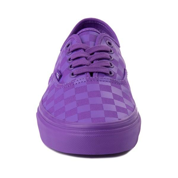 alternate image alternate view Vans Authentic Tonal Checkerboard Skate Shoe - Electric PurpleALT4