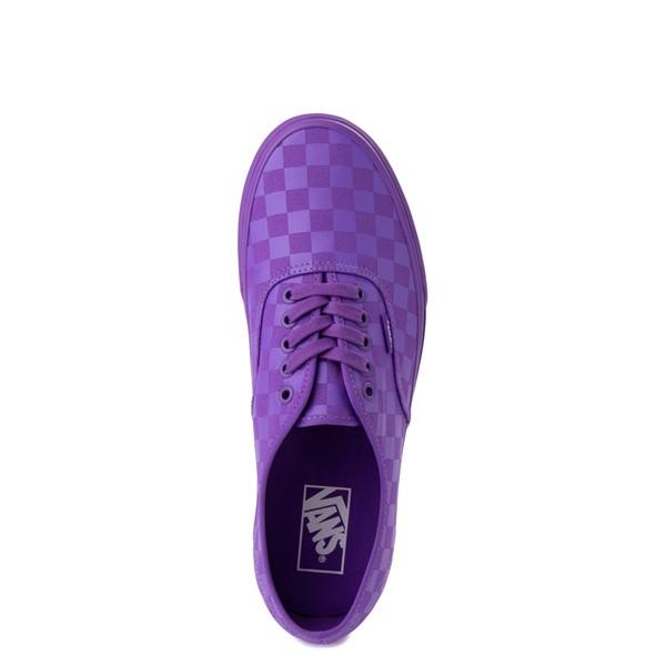 alternate image alternate view Vans Authentic Tonal Checkerboard Skate Shoe - Electric PurpleALT4B
