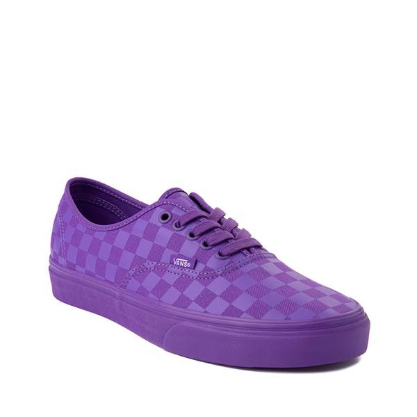 alternate image alternate view Vans Authentic Tonal Checkerboard Skate Shoe - Electric PurpleALT5