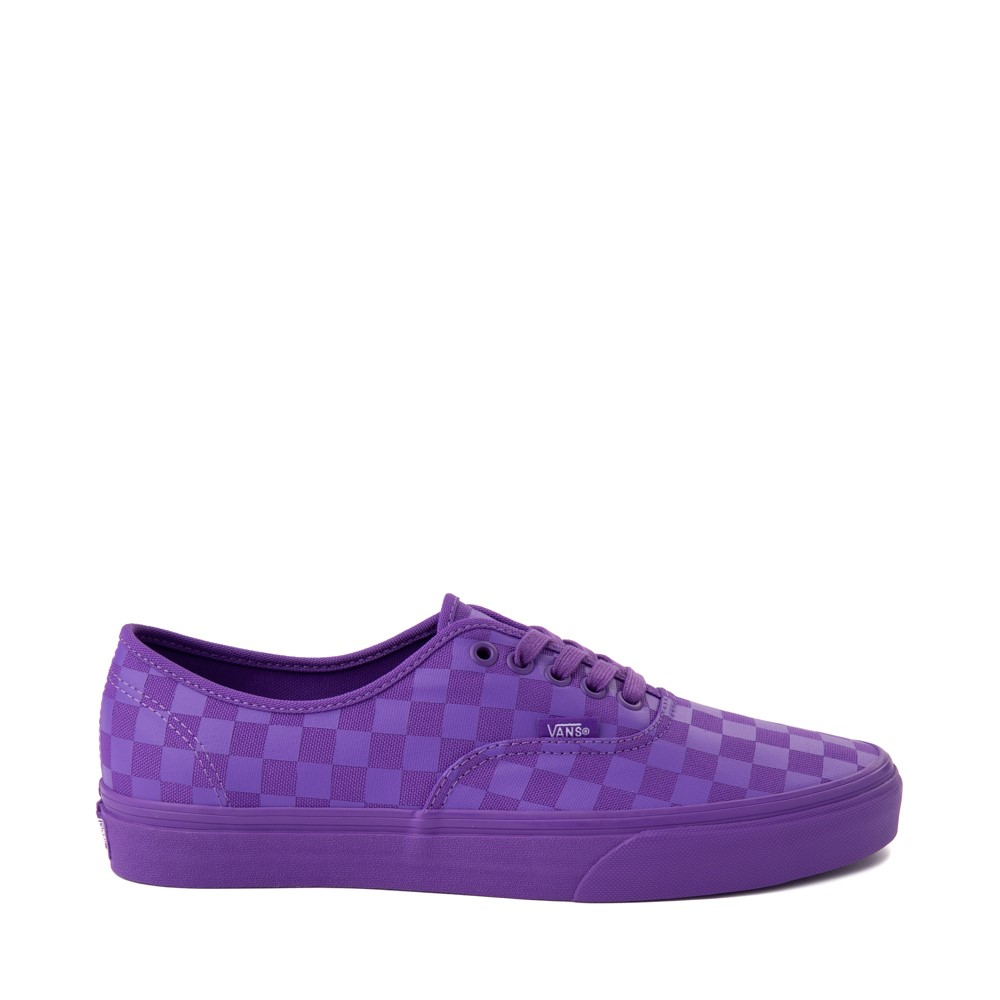 Vans Authentic Tonal Checkerboard Skate Shoe - Electric Purple