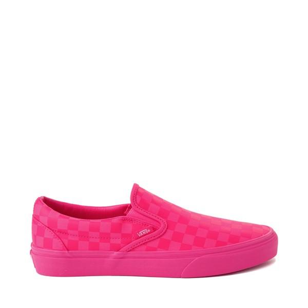 Vans Slip On Tonal Checkerboard Skate Shoe - Pink Glow