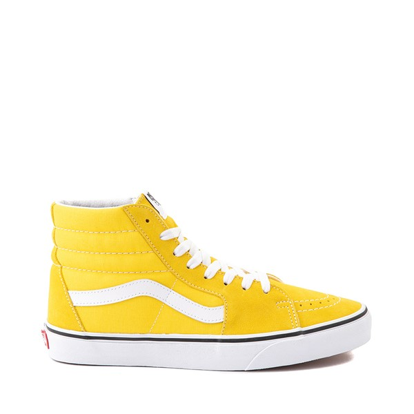 Main view of Vans Sk8 Hi Skate Shoe - Cyber Yellow