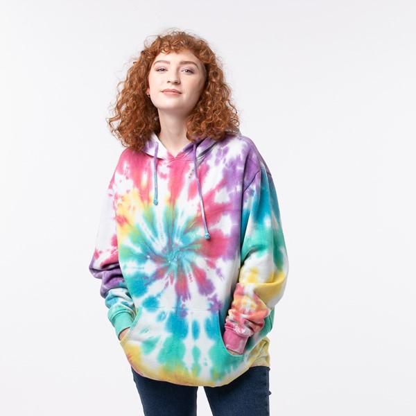 Womens Pastel Tie Dye Hoodie - Multicolor
